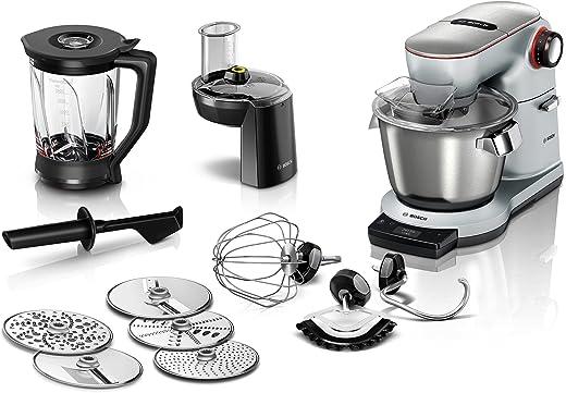 Bosch Küchenmaschine OptiMUM MUM9DT5S41, Edelstahl-Schüssel 5,5 L, integrierter Timer, ohne Waage, diverses Zubehör, Planetenrührwerk,...