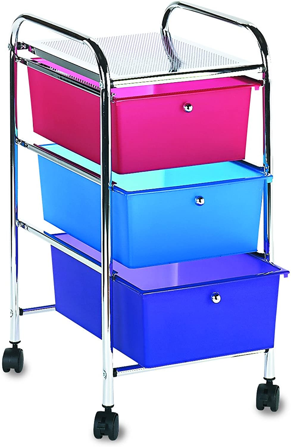 Storage Studios Home Center Rolling Cart W 3 Drawers, 15.25 X26 X13  Multicolor