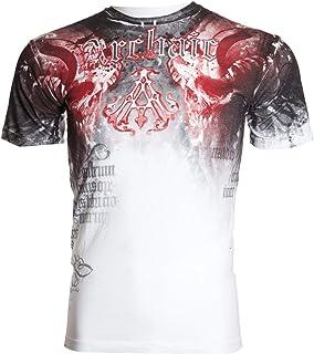 Affliction Archaic Short Sleeve T-Shirt Mens NIGHTWATCHER White Red