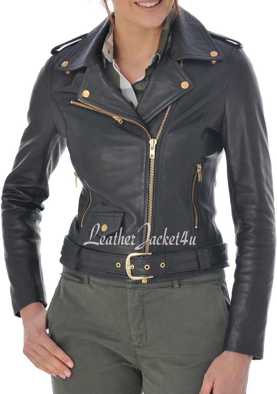 Women's Stylish Genuine Lambskin Leather Jacket 148