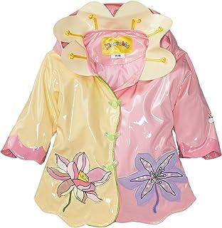 Kidorable Girls' Little Lotus Flowers All Weather Waterproof Coat