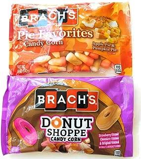 Fall Halloween Candy Corn Bundle - 2 Bags: Apple and Pumpkin Pie, Glazed Donut