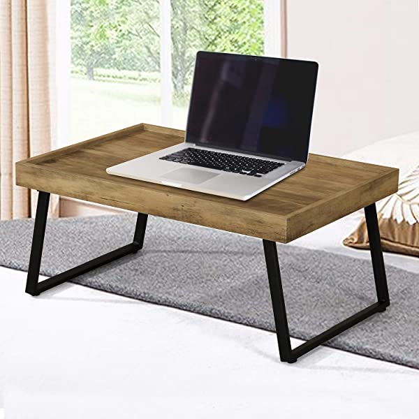 Computer Desk Home Office Wood Sturdy Frame Compact Writing Table For Small Place Apartment Office Furniture Sofa Bed Table Study Writing Table Small Gaming Desk HJ181009BN