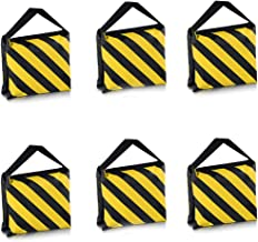 Neewer 6 Pack Dual Handle Sandbag, Black/Yellow Saddlebag for Photography Studio Video..