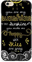 Inspired Cases - 3D Textured iPhone 6/6s Case - Rubber Bumper Cover - Protective Phone Case for Apple iPhone 6/6s - You are My Sunshine