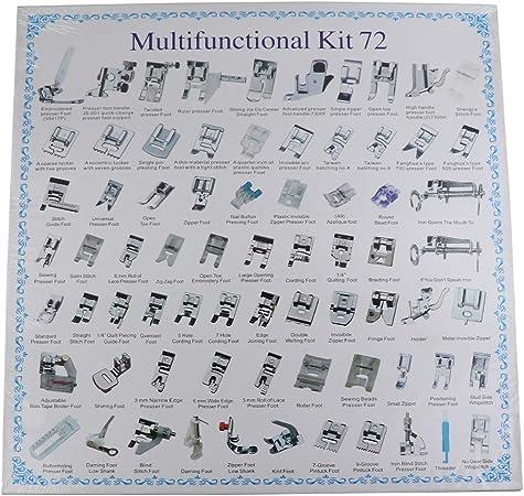 para Singer para Babylock kit de prensatelas para m/áquina de coser 62 piezas de piezas de m/áquina de coser