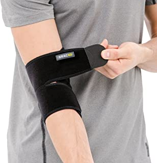 Bracoo Elbow Support, Reversible Neoprene Support Brace for Joint, Arthritis Pain Relief, Tendonitis, Sports Injury Recovery, ES10, Black, 1 Count