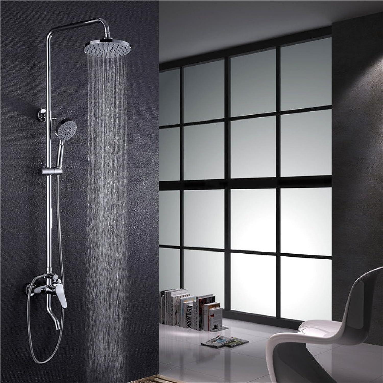 HH shower set full copper shower set bathroom bathroom set mixing valve faucet wall mounted shower hand shower
