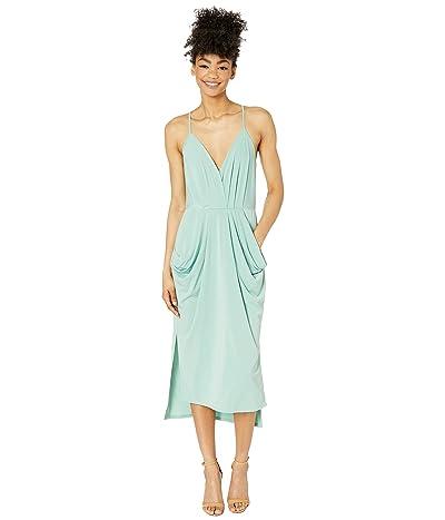 BCBGeneration Drapey Pocket Midi Dress YDM6169244 (Pistachio) Women