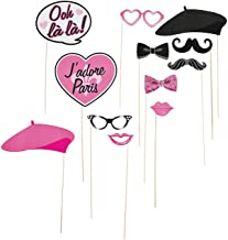 Fun Express - Paris Photo Stick Props for Birthday - Apparel Accessories - Costume Accessories - Costume Props - Birthday - 12 Pieces