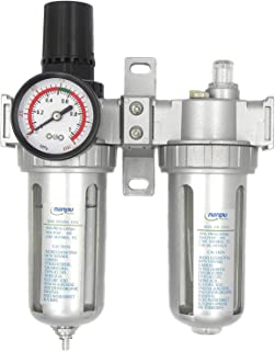 NANPU Air Filter Pressure Regulator Lubricator Dryer Gauge Kit 1/4