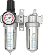 NANPU Air Filter Pressure Regulator Lubricator Dryer Gauge Kit 1/2
