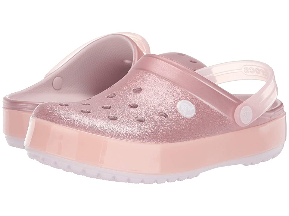 Crocs Crocband Ice Pop Clog (Barely Pink) Clog/Mule Shoes