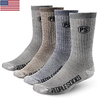 PEOPLE SOCKS Men's Women's Merino wool crew socks 4 pairs...