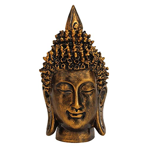 Tied Ribbons Buddha Idol Showpiece Size(7X4.5X4.5,Inch)Gold