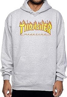 Thrasher Flame Hoodie - Grey