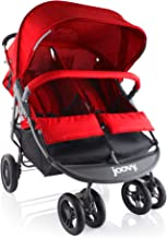 Best Joovy Scooter X2 Double Stroller, Side by Side Stroller, Stroller for Twins, Large Storage Basket, Red Review