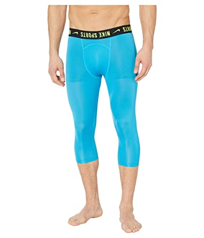 Nike Pro Tights OTK PX (Laser Blue/Laser Blue/Lemon Venom/Black) Men