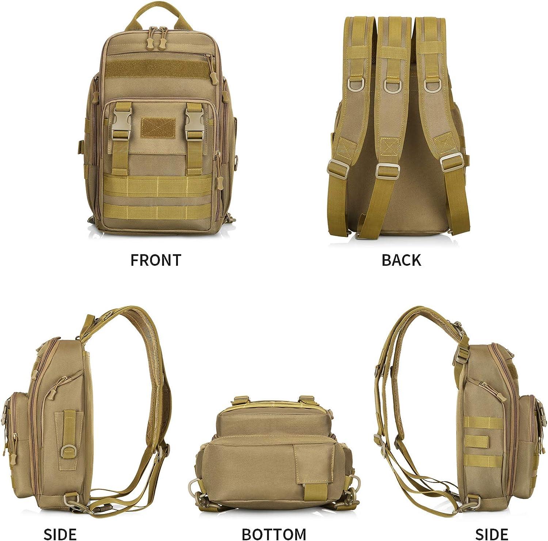 G-raphy Sac de Poitrine Tactique Sacoche Bandouli/ère Cross Body Sac /à dos Militaire avec avec USB Port de Charge pour Voyage Randonn/ée Camping