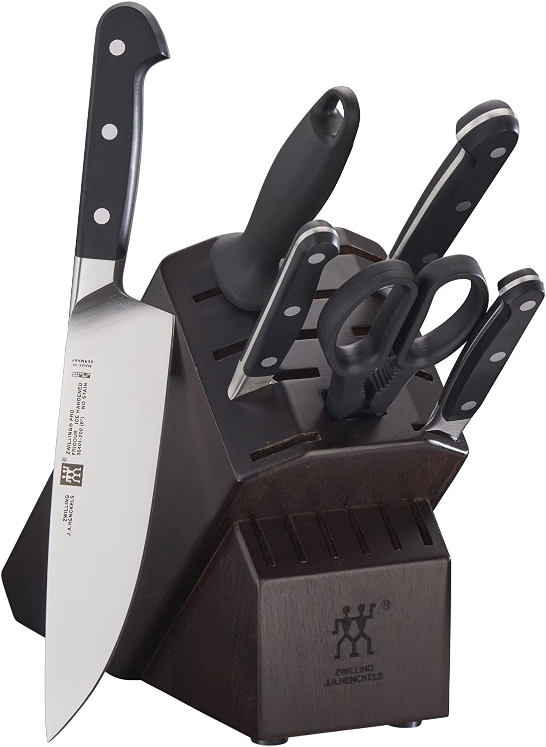 ZWILLING Quantity limited Pro 7-pc Knife Special price Set - Block Walnut