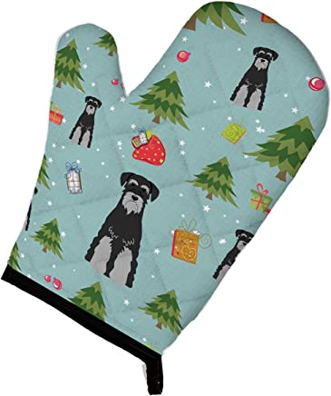 "Caroline's Treasures BB4694OVMT Christmas Standard Schnauzer Black Grey Oven Mitt, 12"" by 8.5"", Multicolor"