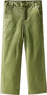 Spring&Gege Boys' Cotton Twill Flat Front Uniform Stretch Chino Pants