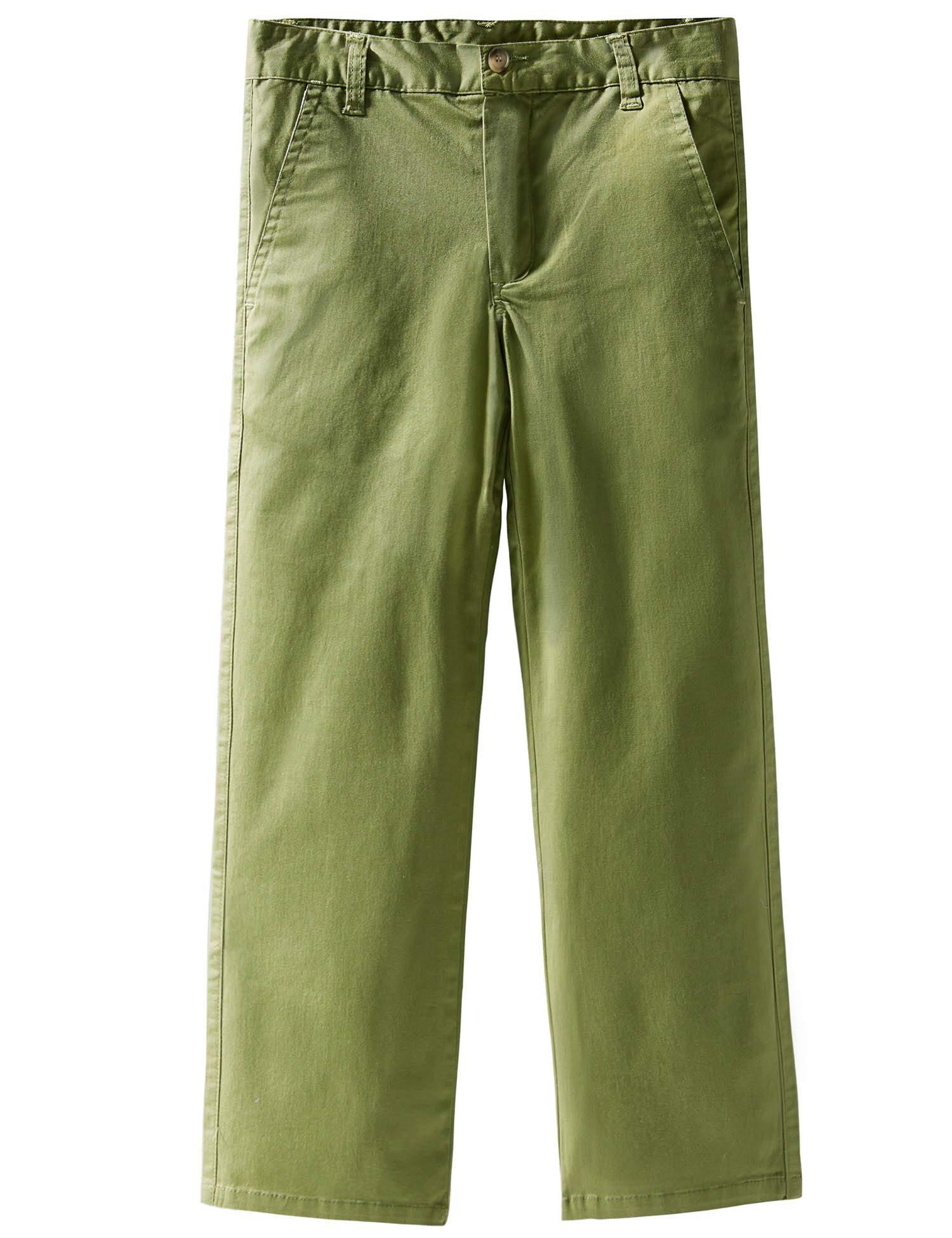 Spring/&Gege Boys Cotton Twill Flat Front Uniform Stretch Chino Shorts