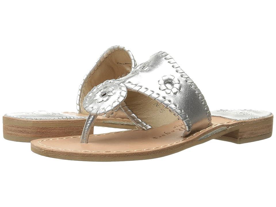 Jack Rogers Hamptons Classic (Silver) Women's Sandals