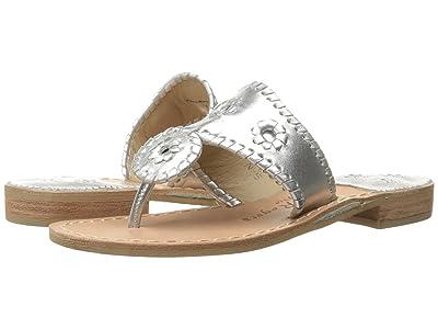 Jack Rogers Jacks Flat Sandal (Silver) Women