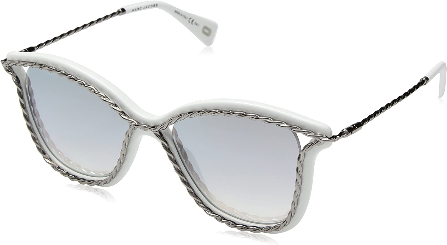 Marc Jacobs Women's Marc160s Cateye Sunglasses WHITE 52 mm