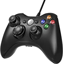 Cypin Xbox 360 Controller, PC USB Wired Controller for Microsoft Xbox 360 and Windows PC (Windows 10/8/7) with Dual Vibration and Ergonomic Wired Game Controller