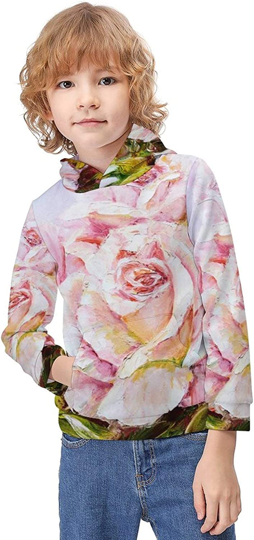 ODOKAY Boys Girls Sturdy Long Sleeve Pullover Hoodie Printed Outdoor Pullover for Kids