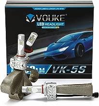 VK-5S H4 HB2 9003 8000lm Led Headlight Conversion Kit,High Low Dual Beam Head Light,Halogen Headlight Replacement,6500K Xenon White, 1 Pair