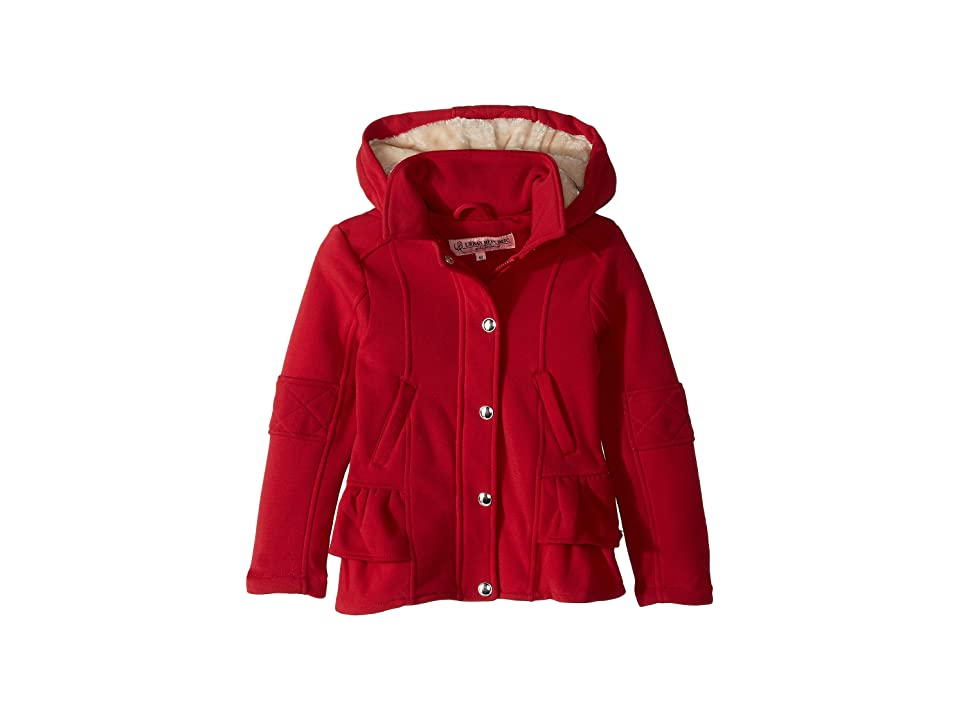 Urban Republic Kids Elena Fleece Hooded Jacket w/ Ruffles (Little Kids/Big Kids) (Red) Girl