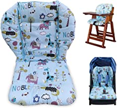 Twoworld High Chair Cushion, Large Thickening Baby Stroller/Car/High Chair Seat Cushion Liner Mat Pad Cover Protector Breathable (Blue Animal)