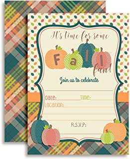 fall festival party invitations