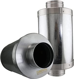 VenTech VT FS-6 FS6 Muffler Noise Reducer Silencer System for Inline Duct Fan, 6