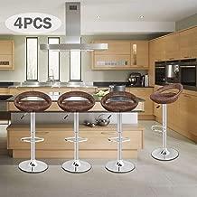 Pub Swivel Barstool Patio Barstool Adjustable Height Pub Chairs Hydraulic Indoor/Outdoor Barstools Modern Sleek Style, Set of 4