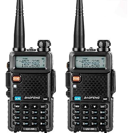 トランシーバー 無線機 U/Vデュアルバンド 超長距離タイプ 5R VOX機能付き 簡単操作 災害·地震 緊急対応 2台セット