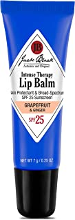 JACK BLACK - Intense Therapy Lip Balm SPF 25 - Green Tea Antioxidants, Long Lasting Treatment, Broad-Spectrum UVA and UVB Protection