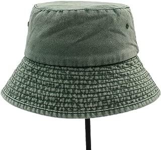 SXQ Cotton Women Men UV Protection Cap Men Hiking Sun Hat Wide Brim Bucket Hat Outdoor Fishing Wide Brim Hat (Color : Green, Size : 56-59cm)
