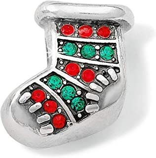 Brighton Blingy Stocking Stopper Bead Swarovski Crystals Silver Plated