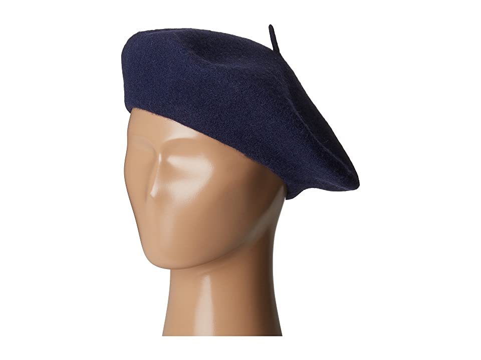 1940s Style Hats San Diego Hat Company WFB2006 Wool Felt Beret Navy Berets $30.00 AT vintagedancer.com