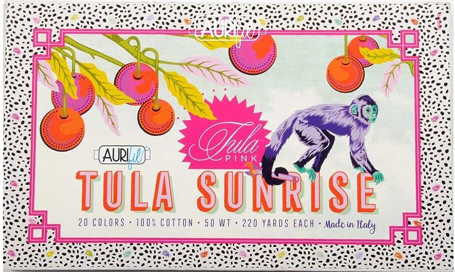 Tula Pink Tula Sunrise Aurifil Thread Kit 20 Small Spools 50 Weight TP50SC20
