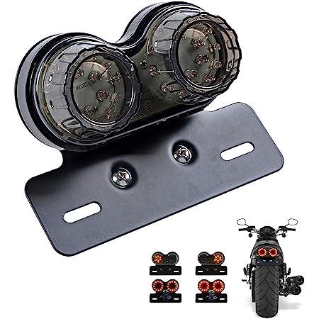 Details about  /New Smoke LED Rear License Tail Brake Light Lamp For Bobber Chopper Cafe Racer