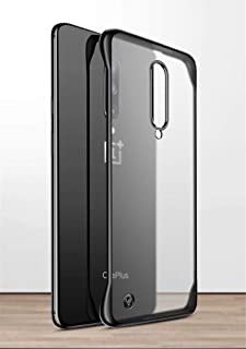 For OnePlus 7 Pro back cover case Matte Transparent Frame less Design Slim Hard Pc case with Ring