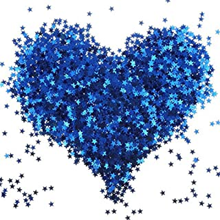 Noble and Shining Stars Decorated With Confetti and Metal Foil Sequins, Blue Stars Sequins Suitable for Wedding, Birthday,Baby Shower, Decoration Fingernail(Royal Blue)