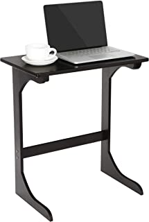 Super Deal Bamboo Sofa Side Table, C-Shape Mobile ChairLaptop Computer Desk Laptop Stand Couch Coffee Snack End Table Overbed Bed Side Table for Living Room Bedroom