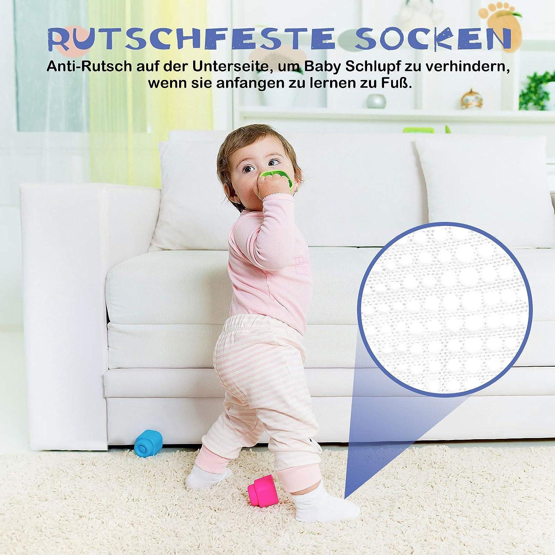 Chaussette Antiderapante Bebe Coton Chaussette Nouveau-n/és et Enfants socquettes Antid/érapantes Pour Gar/çons Filles