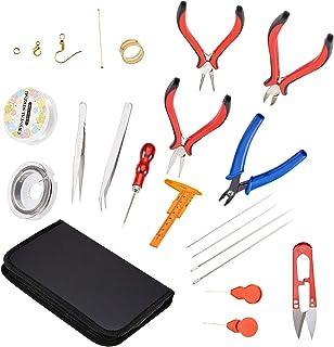 22 Pcs Kit d'Outils de Fabrication de Bijoux, Kit d'Outils de Reparation de Bijoux pour Fabrication de Bracelets Boucles d...